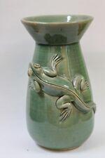 Exotische Vase Tischvase Blumenvase mit 3D Gecko Relief - 17cm