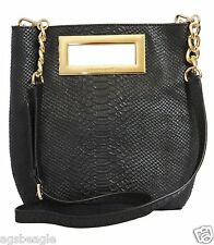 Michael Kors Bag 35F4GBKM3D MK Berkley MD Messenger Embossed Leather Black