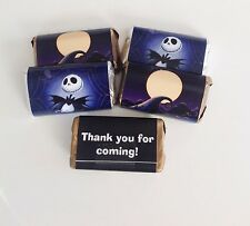50 NIGHTMARE BEFORE CHRISTMAS MINI CANDY BAR WRAPPERS PARTY FAVORS