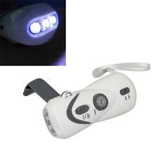 Crank Dynamo Emergency LED Flashlight FM/AM Radio Mobile Phone Charger F7