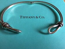 Tiffany & Co Paloma Picasso KNOT silver hinged bracelet cuff bangle UNISEX
