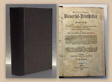 Rammler Universal Briefsteller Musterbuch Briefe Dokumente Aufsätze 1867 xy