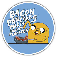 Jake haciendo Bacon panqueques pegatina 85 X 85mm Adventure Time