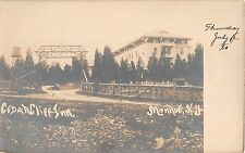 c.1905 RPPC Cedar Cliff Inn & Driveway Monroe NY Orange County by Doremus