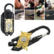 20 In 1 Stainless Survival Screwdriver Wrench Keychain EDC Pocket Multi Tool Kit