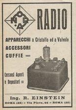 Z2061 Radio Ing. Einstein - Apparecchi a valvole - Pubblicità d'epoca - Advert.