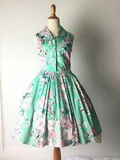 Vintage 1950s 50s style retro dress floral costume voodoo vixen small medium