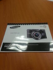 SAMSUNG NX1000 20.3mp NX SMART  DIGITAL CAMERA PRINTED INSTRUCTION MANUAL A5