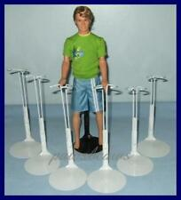 6 WHITE Kaiser Doll Stands For G.I.JOE KEN Dolls U.S.SHIPS FREE