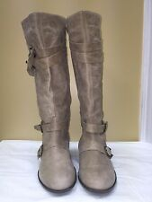 Steven by Steve Madden Ivory Knee High boots upper leather Size 10 pre-owned