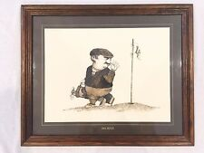 "1974 Thought Factory Golf 18th Hole Gary Patterson 22"" X 18"" Framed Caricature"