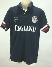 ENGLAND Rugby Team Men's Short Sleeve Polo Shirt Mad Dogs and the Englishmen M