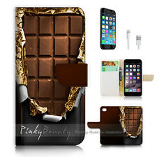 iPhone 7 PLUS (5.5') Flip Wallet Case Cover P0658 Chocolate