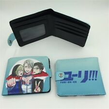 Anime YURI!!! on ICE Wallet Purse Bag Handbag Card Holder Layers PU Money