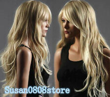 Long Western ladies Wig Like Real Natural Hair Wave Curly Blonde Wig Wigs