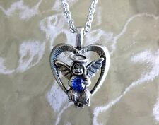 1 GUARDIAN ANGEL With Choice of Austrian Birthstone Necklace on 18'' Chain New.