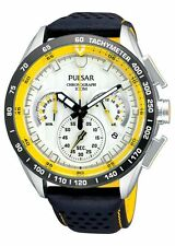 Pulsar PU2013 Mens Chronograph 100M Neo Sport WRC Leather Strap Watch UK Seller