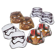 8 Disney Star Wars The Force Awakens Birthday Party Loot Treat Favor Paper Masks