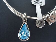 Alex and Ani LIVING WATER Russian Silver Charm Bangle New W/ Tag Card & Box