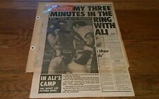 Vintage RARE Boxing Clippings MUHAMMAD ALI  George Foreman boxer JERRY LISKER