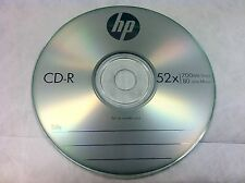 10 Pieces 52X HP Logo CD-R Blank Recordable Disc Media 80Min with Paper Sleeves