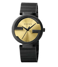 New Gucci Interlocking YA133314 Special Edition Grammy Black Ion PVD 37mm Watch