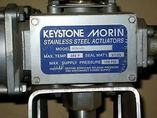KEYSTONE CONTROLS M23SR-60 MORIN ACTUATOR ALL STAINLESS STEEL BUTTERFLY (A1)