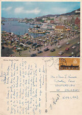 1961 THE SQUARE BERGEN NORWAY COLOUR POSTCARD