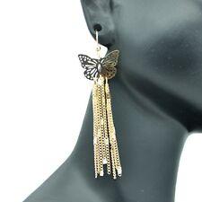 Boucles d'oreilles Papillon Pendante Dentelle Ajourée Filigrane Doré Bo & Co