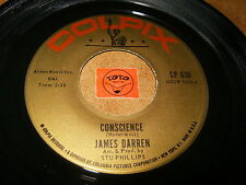 JAMES DARREN - CONSCIENCE - DREAM BIG  / LISTEN - TEEN ROCK POPCORN