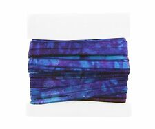 Tie Dyed Fold Over Elastic 5/8th Inch - 5 yard FOE Bundle - Turquoise/Purple