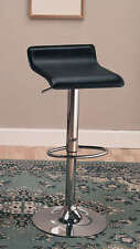 Black and Chrome Adjustable Swivel Bar Stool Chair by Coaster 120390 - Set of 2