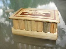 VINTAGE JAPANESE MARQUETRY PUZZLE HIDDEN DRAWER BOOK TRINKET JEWELRY BOX