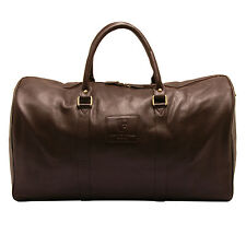 Underwood & Tanner - Brown Travel Bag/Holdall in Soft Grained Leather