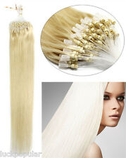 USA Ship Remy Human Hair Extensions Micro Ring Bead Loop Hair Light Blonde 18""