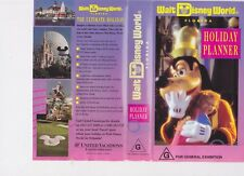 WALT DISNEY HOLIDAY PLANNER VHS VIDEO PAL~ A RARE FIND