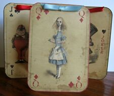 Alice in Wonderland 6 Large playing Card tent card party table decoration