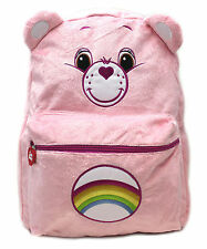 "Carebears Pink Plush 16"" inch Large  Backpack"