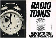 PUBLICITE ADVERTISING  054  1977  FRANCE INTER  radio TONUS  PIERRE DOUGLAS ( 2p