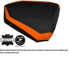 DESIGN 2 B ORANGE & BLACK CUSTOM FITS KTM RC8 R 1190 REAR LEATHER SEAT COVER