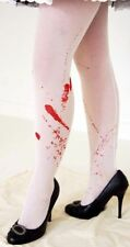 HORROR WHITE BLOODY HOLD UP STOCKINGS great fancy dress accessory HALLOWEEN