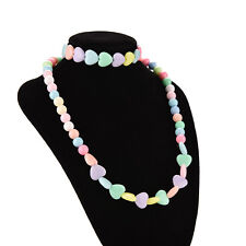 Girls Jewelry Sets Necklaces&Bracelet Heart-shaped for Baby Candy Color Fine