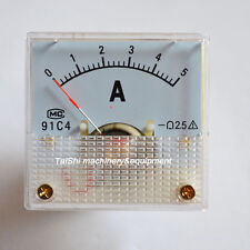 New DC 0~5A 91C4—Analog AMP Current Panel Meter Ammeter