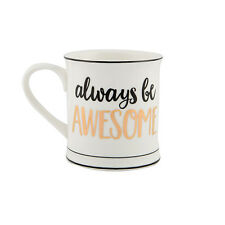 Sass and Belle Metallic Monochrome Always be Awesome Mug - Boxed ceramic mug
