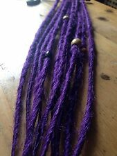 HANDMADE SYNTHETIC DREADLOCKS CUSTOM ACCENT SET 10 DREADS WITH BEADS - FESTIVAL