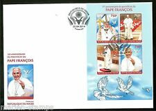 NIGER 2014 1st ANNIVERSARY OF  THE ELECTION OF POPE FRANCIS SHEET FDC