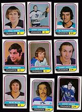 1975 O-PEE-CHEE WHA Team SET Lot of 9 Cleveland CRUSADERS NM- CHEEVERS OPC