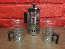 Bodum Eileen French Press Coffee Maker Stainless Steel 8-Cup 2 Matching Mugs B2