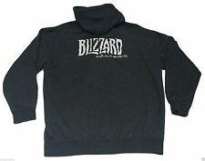 (XL) BLIZZARD CINEMATICS Gray Full Zip Hoodie Warcraft Gamer Nerd activision EUC