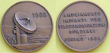 MEDAGLIA GETTONE - 1968 FUCINO AMPLIAMENTO IMPIANTI TELECOMUNICAZIONI SPAZIALI